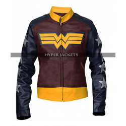 Wonder Woman Princess Diana Comic Costume Leather Jacket