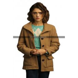 Stranger Things 3 Nancy Wheeler Brown Wool Jacket