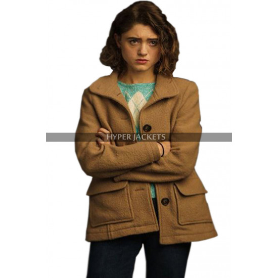 Stranger Things 3 Nancy Wheeler Brown Wool Jacket