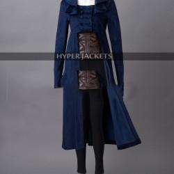 Elizabeth Bennet Pride And Prejudice And Zombies Blue Velvet Coat
