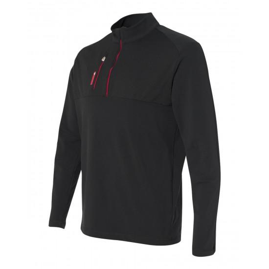 Adidas A195 Golf Mixed Media 1/4 Zip Jacket