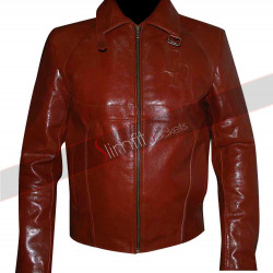 Daredevil Ben Affleck Motorcycle Red Costume Jacket