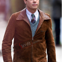 Allied Brad Pitt (Max Vatan) Brown Jacket