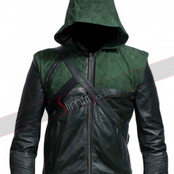 Oliver Queen Arrow Stephen Amell Green Jacket Costume