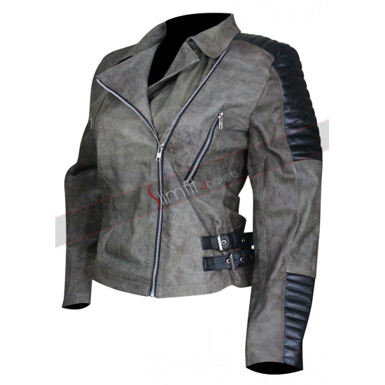 Walking Dead S5 Christian Serratos Quilted Jacket