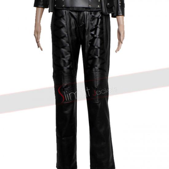 Arrow Season 2 Caity Lotz Black Canary Leather Pant