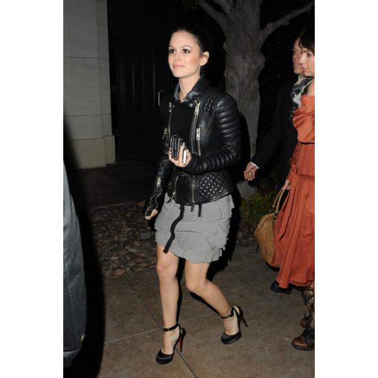 Rachel Bilson Burberry Prorsum Quilted Jacket