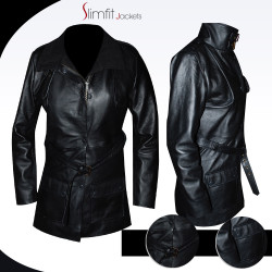 Erin Lindsay Chicago P.D Black Leather Coat
