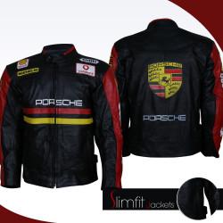 Porsche Biker Genuine Leather Jacket