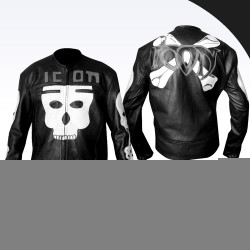 Skull Icon Motorhead Motorcycle Leather Jacket