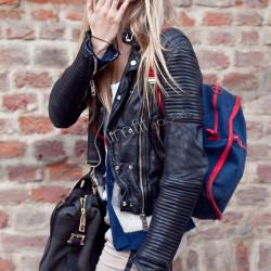 Little Girl Cara Delevingne Biker Leather Jacket