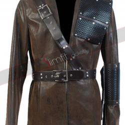 Arrow Malcolm Merlyn Brown Leather Jacket
