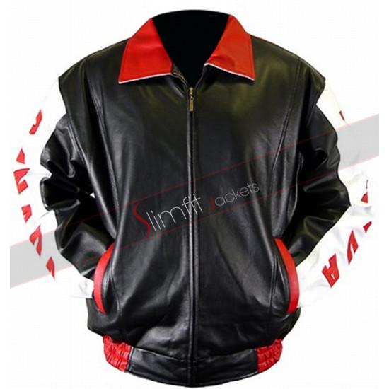 Canadian Flag Leather Bomber Jacket