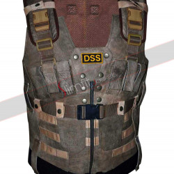 DSS Army Suede Men's Brown Leather Vest