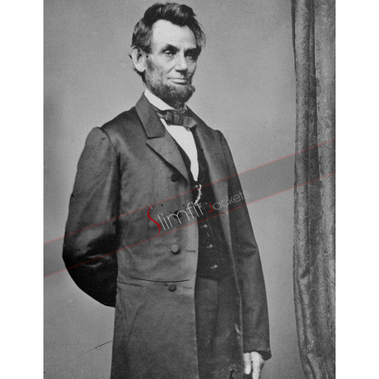 Abraham Lincoln Black Long Coat