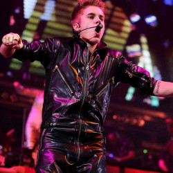 Believe Tour Justin Bieber Biker Leather Jacket