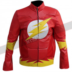 Flash (Barry Allen) Red Leather Jacket for Sale