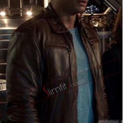 Arrow S4 John Diggle (David Ramsey) Brown Jacket