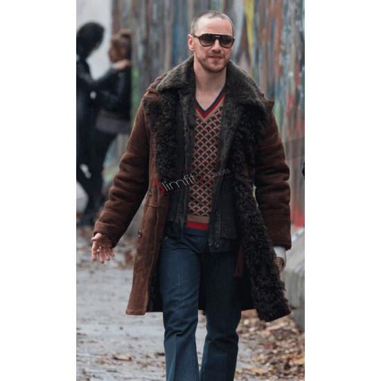 Atomic Blonde David Percival Shearling Brown Coat