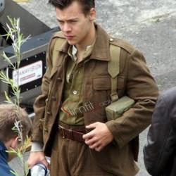 Alex Dunkirk Harry Styles Soldier Brown Jacket