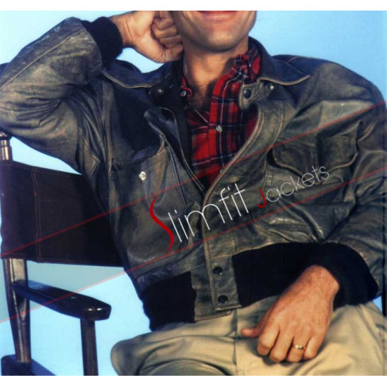 A-Team 'Howling Mad' Murdock Distressed Leather Jacket