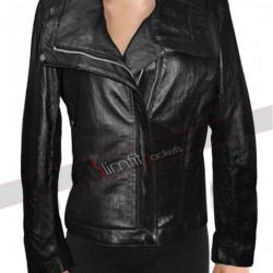 Alessandra Ambrosio Victoria's Secret Black Biker Jacket