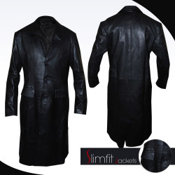 Angel David Boreanaz Black Long Jacket/Coat