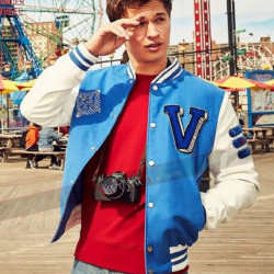Ansel Elgort Baby Driver Varsity Blue Jacket