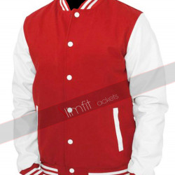 Baseball Varsity Mens Red/Blue Letterman Jacket
