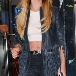 Cheryl Cole Fancy Dress Blue Fringe Women's Jacket