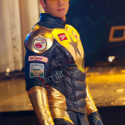 Eric Martsolf Booster Gold Leather Costume Jacket