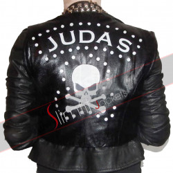 Judas Lady Gaga Studded Black Biker Leather Jacket
