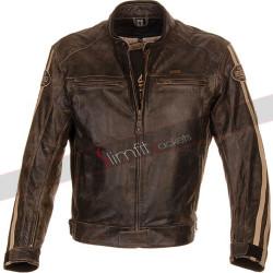 Richa Retro Vintage Racing Biker Leather Jacket