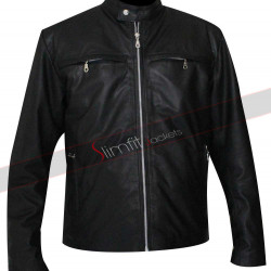Alex Pettyfer Stormbreaker Leather Black Jacket
