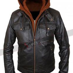 Sebastian Stan Civil War Winter Soldier Hoodie Black Jacket