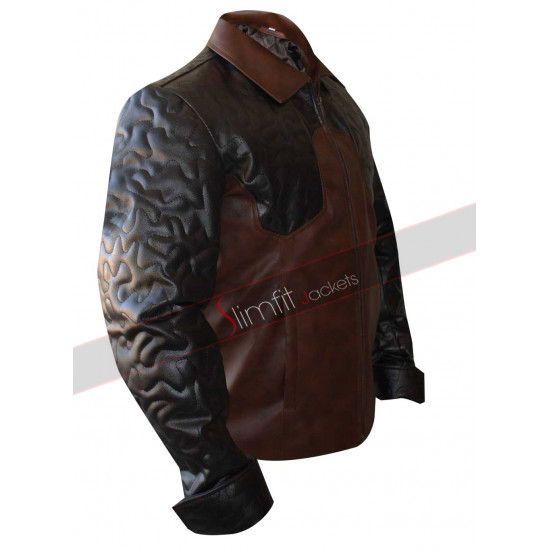 Criss Angel Quilted Biker Leather Jacket