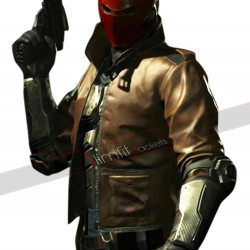 Injustice 2 Game (Jason Todd) Cameron Bowen Red Hood Leather Jacket
