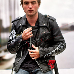 Robert Pattinson Motorcycle Leather Jacket