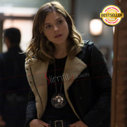 Chicago PD Sophia Bush (Erin Lindsay) Fur Leather Jacket
