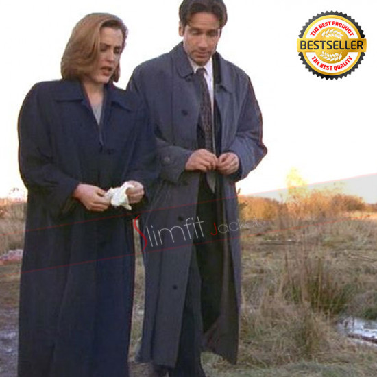 X-Files Fox Mulder (David Duchovny) Trench Coat