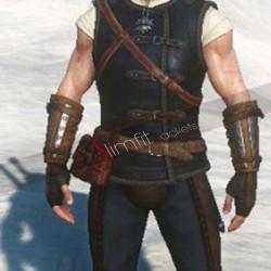 Witcher 3 Geralt of Rivia Cat School Gear Leather Vest