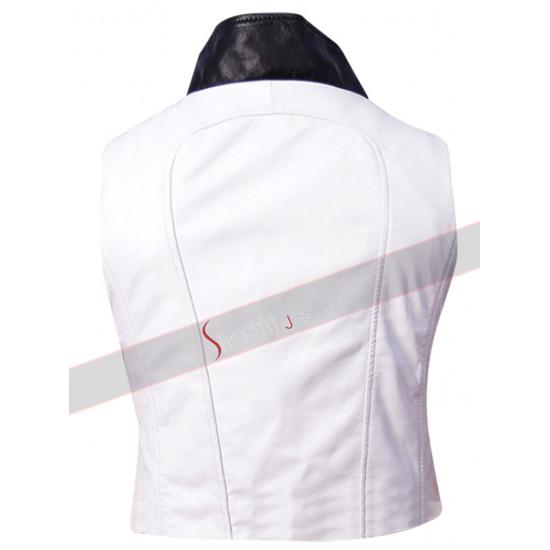 Batman Arkham Knight Red Hood White Leather Vest
