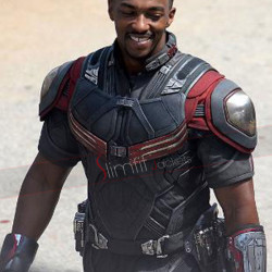 Anthony Mackie Captain America Civil War Leather Jacket