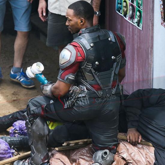 Anthony Mackie Captain America Civil War Leather Jacket