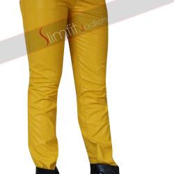 Freddie Mercury Yellow Leather Pant