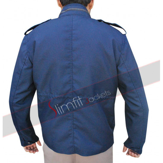 Aloha Bradley Cooper (Brian Gilcrest) Military Blue Jacket