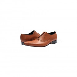 Akhal Teke Brown Formal Pointed Leather Shoes