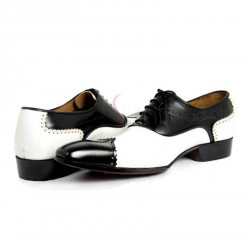 Anastasio Resurrection Black White Spectator Leather Shoes
