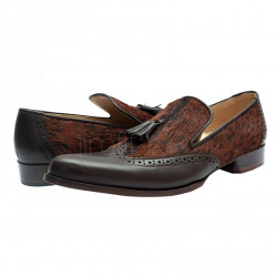 Andravida Tassel Loafers Two Tone Brown Shoes