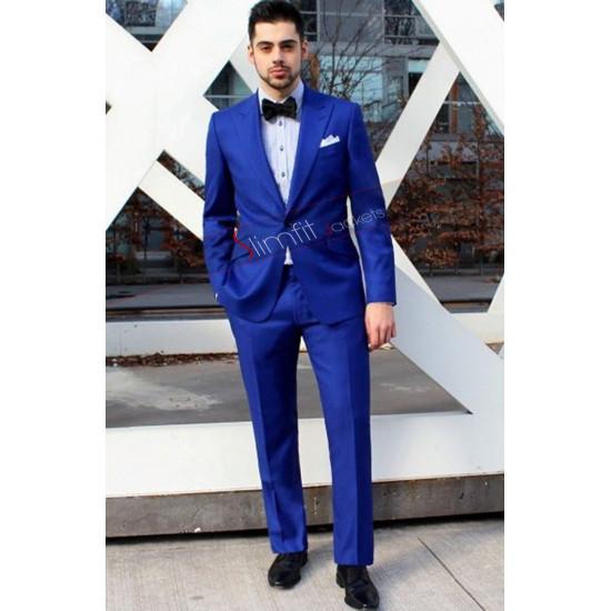 2016 Elegant Wedding Blue Suit